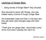 Lashings of Ginger Beer