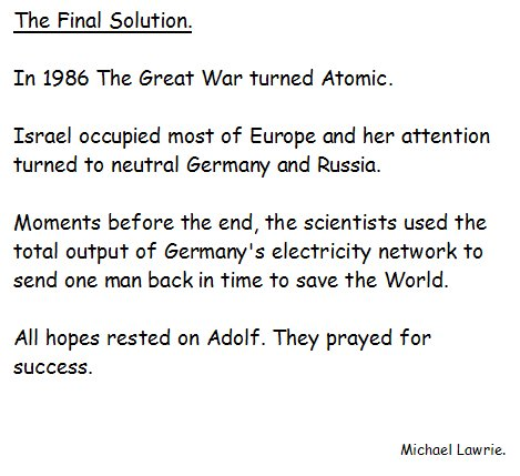 The Final Solution