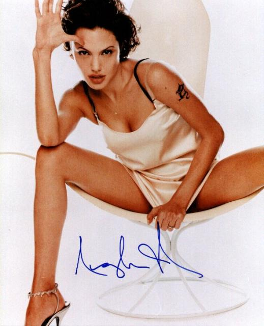Angelina Jolie 1 (10x8)   Excellent Signature.