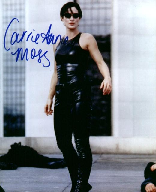 Carrie Anne Moss 2 (10x8)   Excellent Signature.