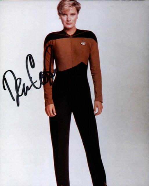 Denise Crosby 1 (10x8)   Excellent Signature.