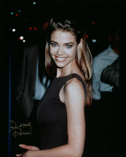 Denise Richards 10 (10x8)   Slight lifting on this gold Signature.