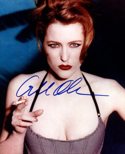 Gillian Anderson 1 (10x8)   Lifted surname, but doesn't look too bad.
