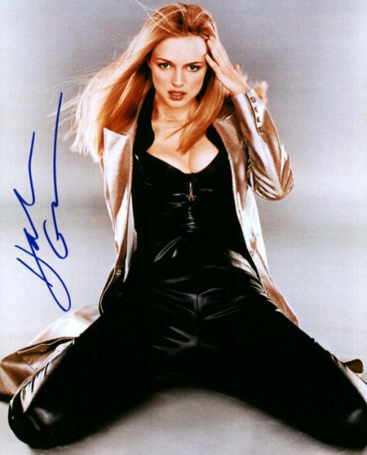 Heather Graham 1 (10x8)   Very slight lifting on signature.