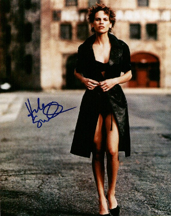 Hilary Swank 1 (10x8)   Excellent Signature.