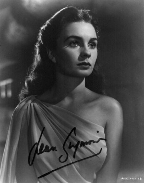 Jean Simmons 1 (10x8)   Excellent Signature.