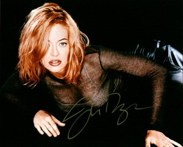 Jeri Ryan 3 (10x8)   Some lifting on this gold Signature, not hugely bad though.