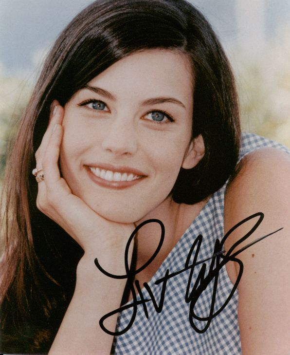 Liv Tyler 6 (10x8)   Excellent, very thick Signature.