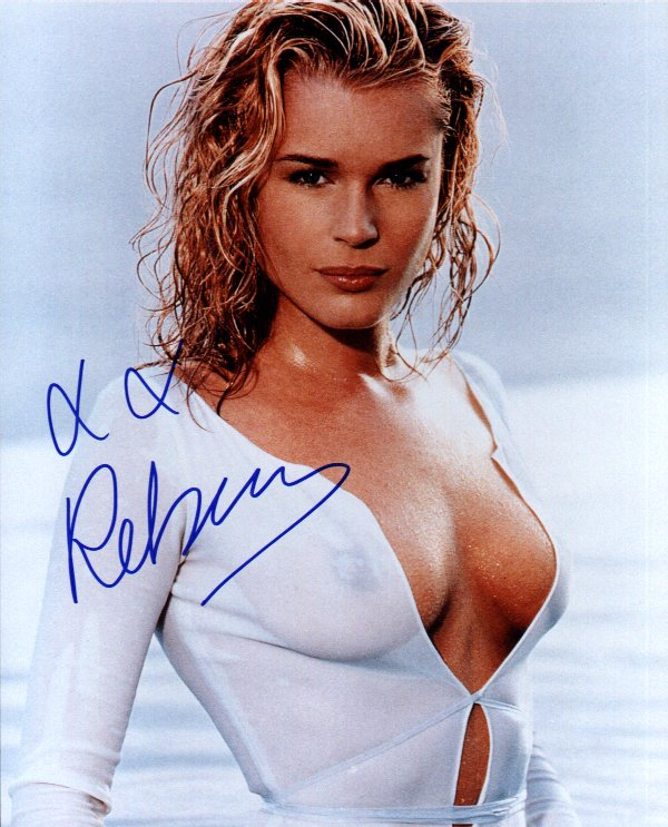 Rebecca Romijn Stamos 3 (10x8)   Very slight lifting on Signature.