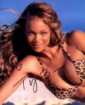 Tyra Banks 1 (10x8)   Small lifting on surname of Signature.