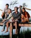 Dawsons Creek Cast (10x8)   Signed by all four. Bad lifting on Dawson's signature, and slight lifting on the others.