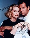 Moonlighting: Cybill Shepherd and Bruce Willis (10x8)   Signed by Cybill and Bruce. Excellent Signatures.