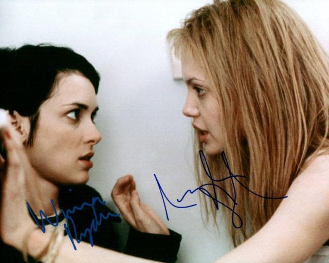 Girl Interrupted: Winona Ryder and Angelina Jolie (10x8)   Signed by both, with excellent signatures.