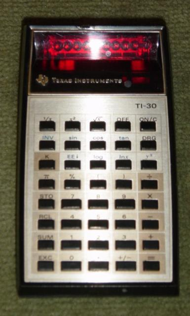1976: Texas Instruments TI-30