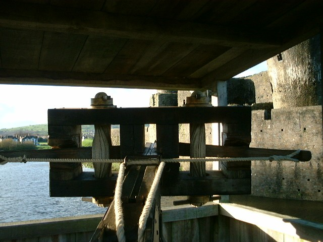 Ballista at Caerphilly Castle